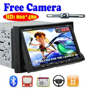 Screen LCD Car Stereo DVD CD  4 Player RDS Radio Camera