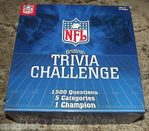 Board Game NFL Gridiron Trivia Challenge 1500 Questions 5 Categories 1