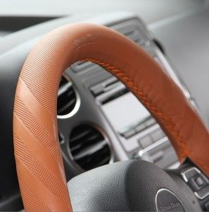 Circle Cool Chevrolet 43014 Leather Wrap Steering Wheel Cover Wrap New