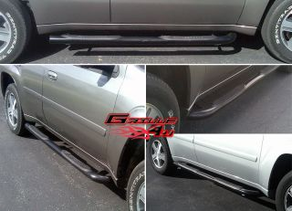 02 09 Chevy Trailblazer 02 06 GMC Envoy Black Nerf Bars
