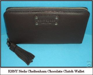 kate spade chocolate cheltenham bag wallet set nwt