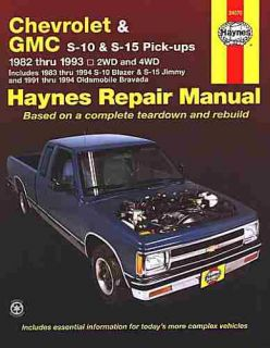 CHEVY S10 BLAZER GMC S15   JIMMY PICKUP REPAIR SHOP MANUAL 1982 1983