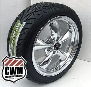 Spoke Chrome Wheels Rims Federal Tires for Chevy Impala 1964