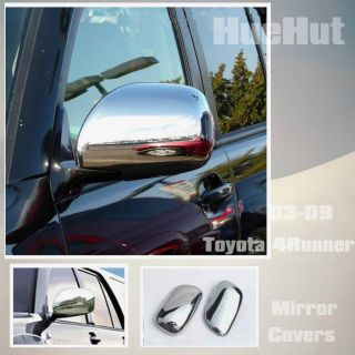 03 09 Toyota 4Runner Chrome Door Mirror Covers Lid Trim Rear View 04