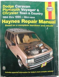 Plymouth Voyager Chrysler Town and Country Haynes Repair Manual