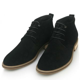 oxford Nubuck Leather Lace Up Casual Shoes Black mens chukkas boots
