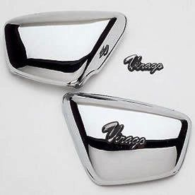 Yamaha Chrome Side Covers Virago 84 98 Brand New in Pac 750 1100 1000
