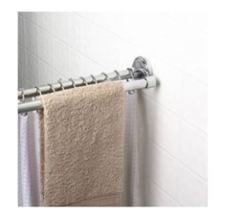 Speakman s 36601 SS Polished Chrome Adjustable Double Shower Curtain
