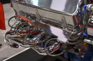 Chevy Ford Chrysler Aluminum Linear Wire Loom Polished Plain Smooth