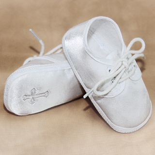 Corrine Company Baby Boy Size 0 White Cross Christening Baptism Shoes