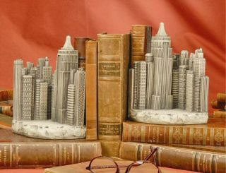Wonders TMS New York City Skyline Architectural Bookends USA