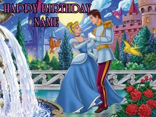 Cinderella Edible Image Cake Topper Icing Decoration