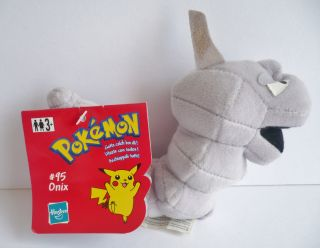 Pokemon Soft Plush Toy Onix Hasbro Beanie Tagged RARE