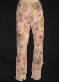 Claire Pettibone Dusty Rose Hydrangea Layer Yoga Pant L