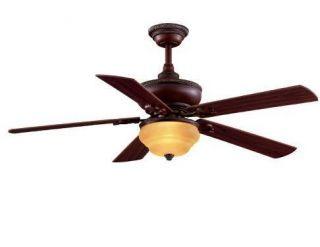 Hampton Bay Clarington 52 inch Ceiling Fan with Light Kit Gilded