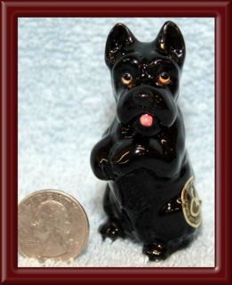 SCOTTISH TERRIER PUPPY FIGURINE PORCELAIN GEORGE GOOD JAPAN ©1981