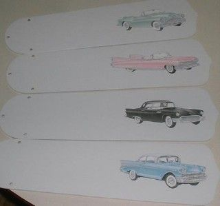 Pink Cadillac Old Time Classic Cars Ceiling Fan