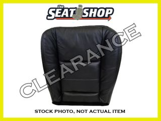 CLEARANCE 2002 2006 Ford F250 350 Black Leather Seat Cover RH Bottom