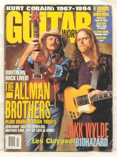 Guitar World Magazine The Allman Brothers Les Claypool
