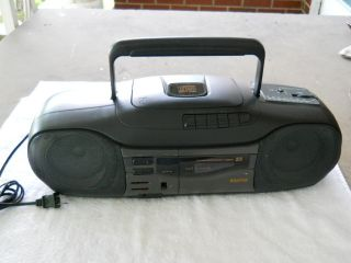 Sanyo Boombox CD Player Cassette Player Radio