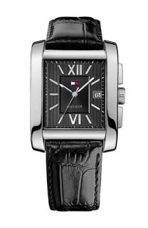 Tommy Hilfiger Square Leather Strap Watch (Online Exclusive)