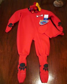 Toddler Costume Clifford Red Dog Infant 18 mos with Toy New