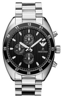Emporio Armani Large Round Chronograph Watch