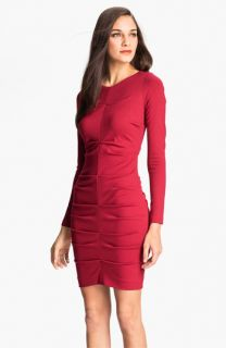 Nicole Miller Ruched Ponte Knit Sheath Dress