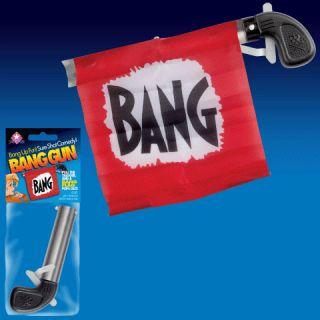 Bang Gun Flag Comedy Clown Magic Trick Toy Gag Joke Fun