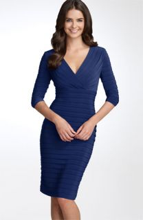 Adrianna Papell Pleated Jersey Sheath Dress