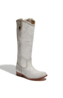 Frye Melissa Button Crackled Leather Boot