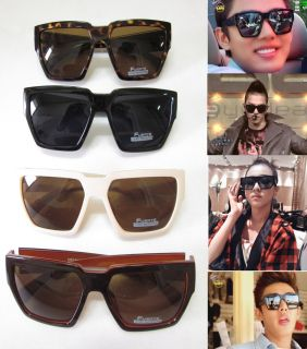 New Oversized Square Plastic Sun Glasses 4 Color BIGBANG Taeyang 2NE1