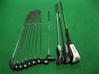 CLEVELAND COMPLETE GOLF CLUB SET MENS IRONS DRIVER 3 5 WOOD 4 SW