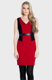 Cynthia Steffe Alana V Neck Colorblock Sheath Dress