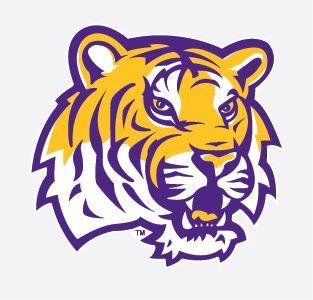 LSU Tigers TIGER HEAD LOGO 4 Vinyl Decal Car Truck Sticker