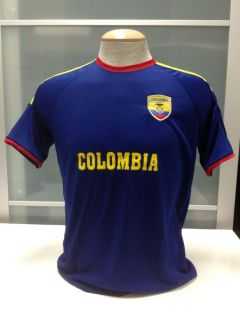 Colombia Soccer Jersey Flag Polo T Shirt Souvenir Adult All Sizes