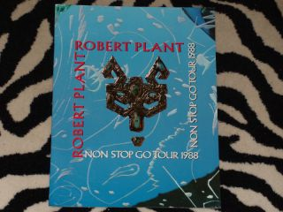 Robert Plant Tour Book 1988 Blue Program 2 Non Stop Go