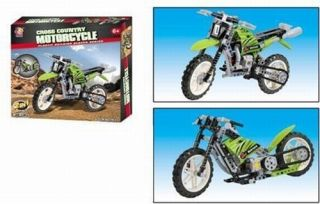 Bike Motorcycle Construction Toy and Chopper Street Bike Set