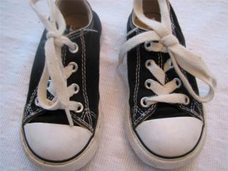 Converse All Star Black Canvas Sneakers Boys Toddler Sz 7