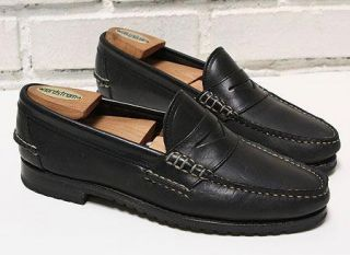 Men Allen Edmonds Coppell Black Calf Slip on Penny Loafers Dress Shoe