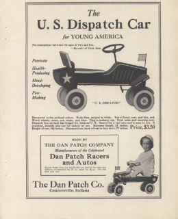 and autos u s dispatch toy car ad 1917 connersville indiana this is