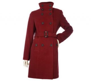 Isaac Mizrahi Live Double Breasted Trench Coat   A212342