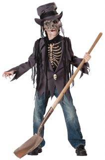 Grave Robber Child Costume Kids Boy Scary Theme Party Haunted House