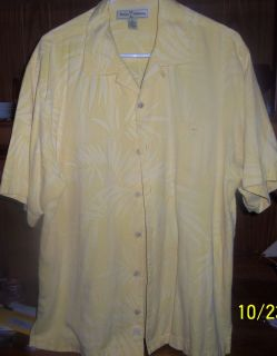 Tommy Bahama Camp Shirt size M silk cotton blend authentic floral