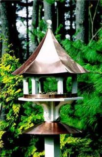 Lazy Hill Copper Carousel Bird Feeder 4 Brackets