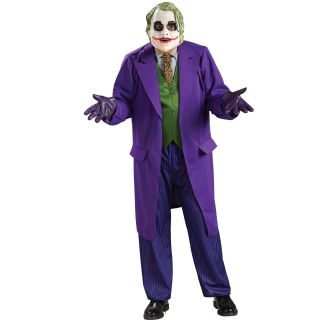 C341 Deluxe Batman Dark Knight The Joker Fancy Halloween Mens Costume