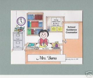 Personalized Cartoon School Guidance Counselor Teacher