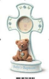 Blue Baby Boy Christening Baptism Religious Cross Gift