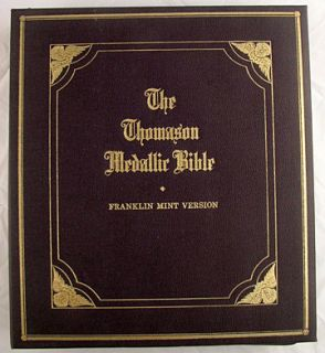 Thomason Medallic Bible by Franklin Mint Complete Nice