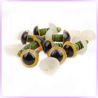 Plastic Fake Eye Eyeballs for Mask Doll Bear Toy 10mm